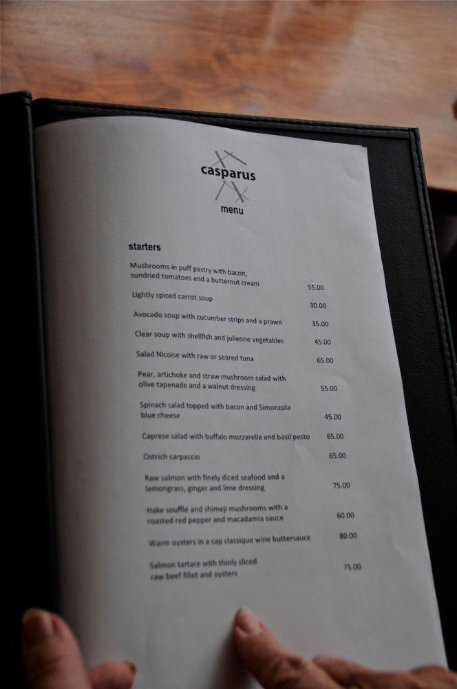Casparus Restaurant ▲ 59 Dorp Street ▲ Stellenbosch (4/6)